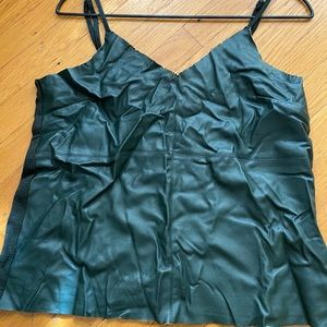 Feux leather cami